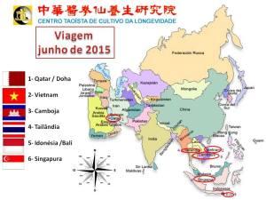 Mapa Viagem 2015