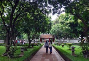 Templo da Literatura_Jardim 5º pátio